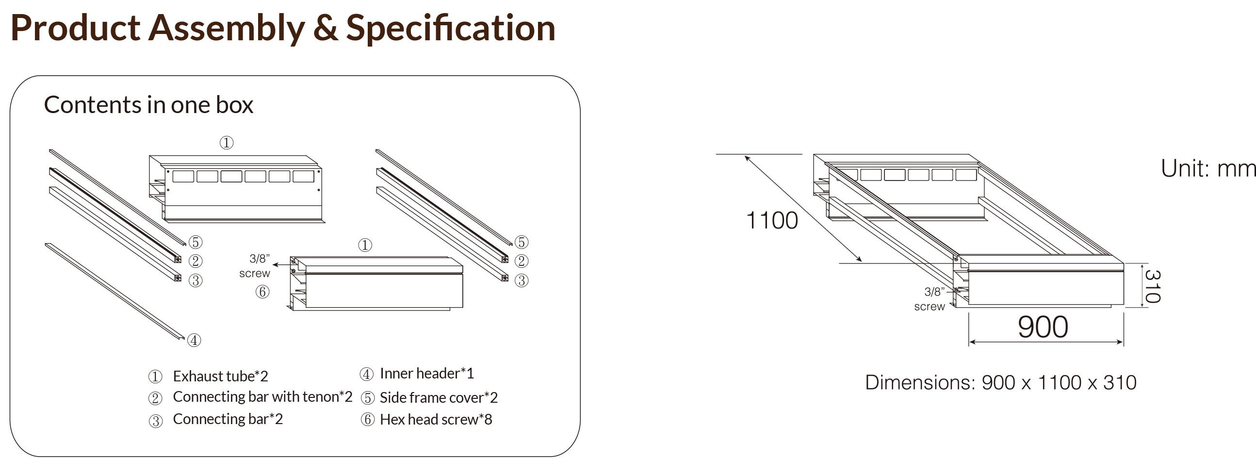 產品規格及組裝圖